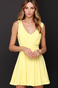 Heaven's Adore Yellow Backless Dress at Lulus.com!