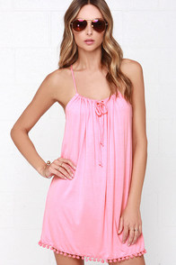 Lucy Love Emma Coral Pink Dress at Lulus.com!