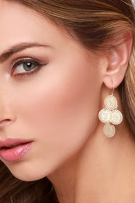 See You Around Gold Earrings at Lulus.com!
