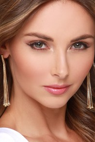 Gathered Here Today Gold Earrings at Lulus.com!