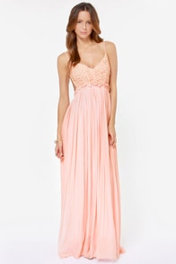 Blooming Prairie Crocheted Pink Maxi Dress at Lulus.com!