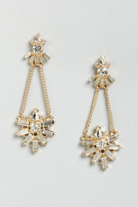 Nobility Time Rhinestone Dangle Earrings at Lulus.com!