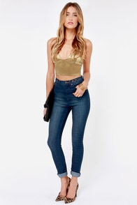 LULUS Exclusive Disco Diva Gold Crop Top at Lulus.com!