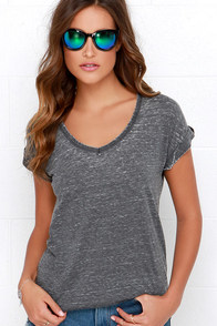 Life I Lead Grey Burnout Tee at Lulus.com!
