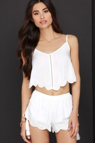 Mink Pink Castaway Ivory Embroidered Two-Piece Set at Lulus.com!