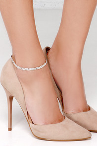 Step by Step Silver Anklet at Lulus.com!
