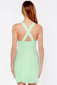 Step Aside Mint Green Dress at Lulus.com!