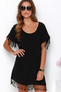 For Sienna The Wild Wild Fest Black Shift Dress at Lulus.com!