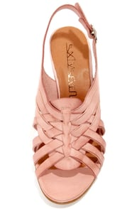 Sixtyseven 75746 Heather Vachetta Pale Pink High Heel Sandals at Lulus.com!
