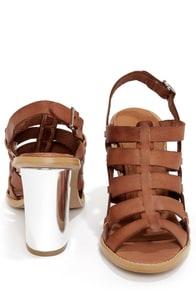 Sixtyseven 75936 Larissa Vachetta Brandy High Heel Sandals