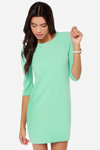 Shifting Me Higher Cutout Mint Shift Dress at Lulus.com!