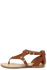 Madden Girl Sukiee Cognac Gladiator Sandals at Lulus.com!