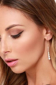 Crystal Vision Gold Rhinestone Earrings at Lulus.com!