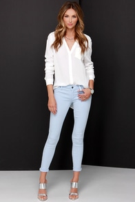 Tractr Modern Myth Light Blue Skinny Jeans at Lulus.com!