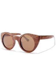 Woodzee Olivia Brown Pear Wood Sunglasses at Lulus.com!