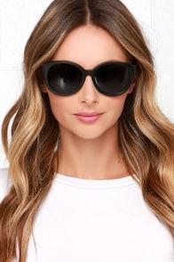 Woodzee Karlie Black Bamboo Sunglasses at Lulus.com!
