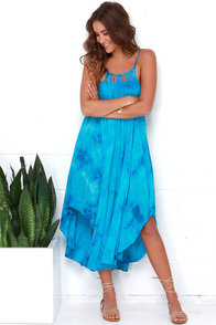 Tied to the Tide Blue Tie-Dye Midi Dress at Lulus.com!