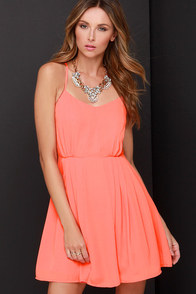Jack by BB Dakota Renrose Coral Orange Dress at Lulus.com!