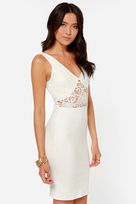 Lady Lovestruck Backless Ivory Lace Dress at Lulus.com!