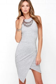 Rocksteady and Ready Heather Grey Bodycon Dress at Lulus.com!