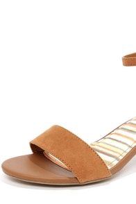 Bamboo Leroy 01 Chestnut Suede Ankle Strap Sandals at Lulus.com!