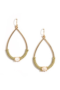 Center of it All Gold Earrings at Lulus.com!