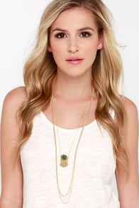 Gem Garden Gold Layered Necklace at Lulus.com!