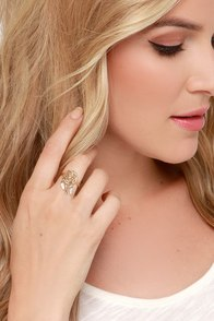 Sound A-Chic Gold Dream Catcher Ring at Lulus.com!