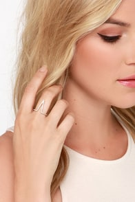 V Adorbs Gold Rhinestone Ring at Lulus.com!