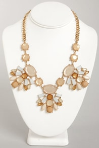 My Biggest Fan Tan Rhinestone Necklace at Lulus.com!