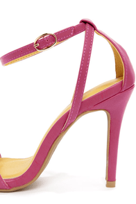 Shoe Republic LA Najana Berry Purple Ankle Strap Heels at Lulus.com!