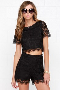 Prance Boldly Black High-Waisted Lace Shorts at Lulus.com!