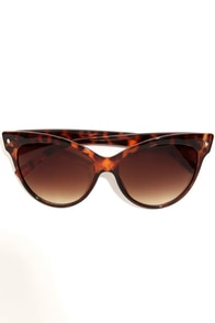 One Cool Cat-Eye Tortoise Sunglasses at Lulus.com!