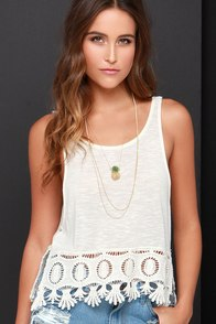Others Follow Haven Cream Crochet Crop Top at Lulus.com!