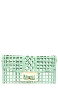 Glad to See Through Cutout Mint Clutch at Lulus.com!