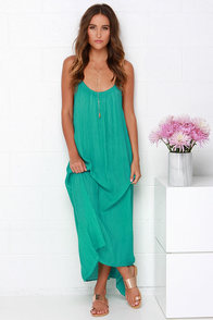 Windswept Wanderer Washed Sea Green Maxi Dress at Lulus.com!