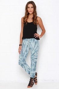 Obey Lola Blue Tie-Dye Sweatpants at Lulus.com!