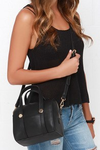 Carry Out Black Mini Handbag at Lulus.com!