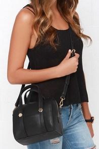Carry Out Black Mini Handbag at Lulus.com!