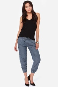 Blank NYC Tencel Cropped Chambray Pants