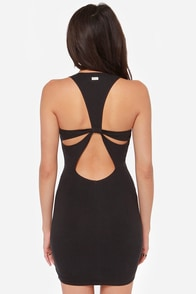 RVCA Haunted Backless Black Dress at Lulus.com!