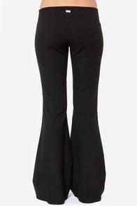 RVCA Knockie Embroidered Black Pants at Lulus.com!