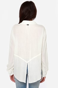 RVCA Talons Ivory Top at Lulus.com!