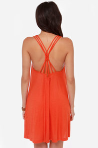 RVCA Magnitude Red Orange Dress at Lulus.com!