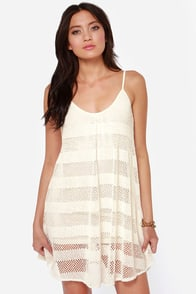 RVCA Bori Ivory Crochet Dress