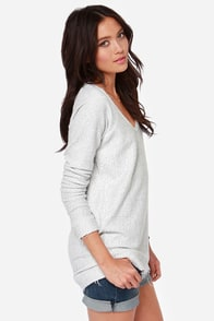 RVCA Lengths Ivory Sweater at Lulus.com!