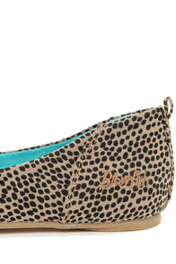 Blowfish Nice Brown Rain Dot Print Ballet Flats at Lulus.com!