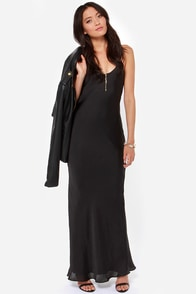 It Must Be Love Black Maxi Dress at Lulus.com!
