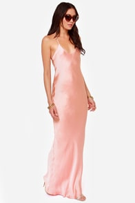 It Must Be Love Light Pink Maxi Dress at Lulus.com!