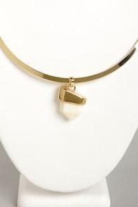 Rock My World Cream Necklace at Lulus.com!